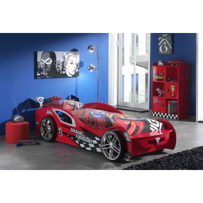 grand tourisme rouge lit voiture enfant lignemeuble com. Black Bedroom Furniture Sets. Home Design Ideas