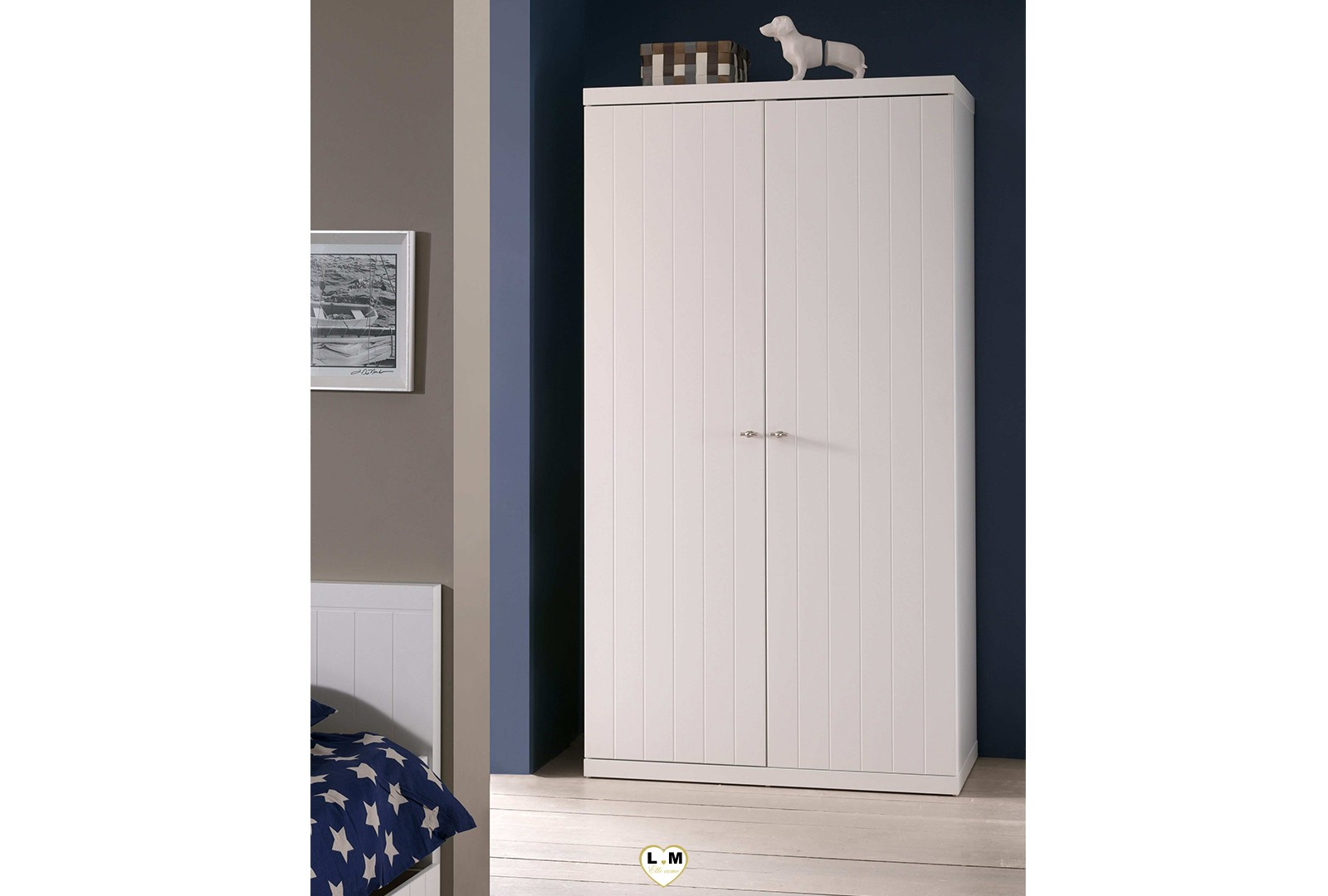 robinson chambre ado l 39 armoire 2 portes lignemeuble com. Black Bedroom Furniture Sets. Home Design Ideas