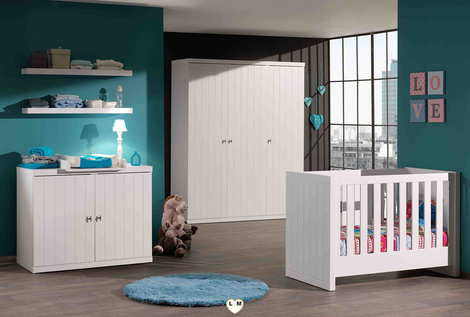 robinson chambre ado l 39 armoire 3 portes lignemeuble com. Black Bedroom Furniture Sets. Home Design Ideas