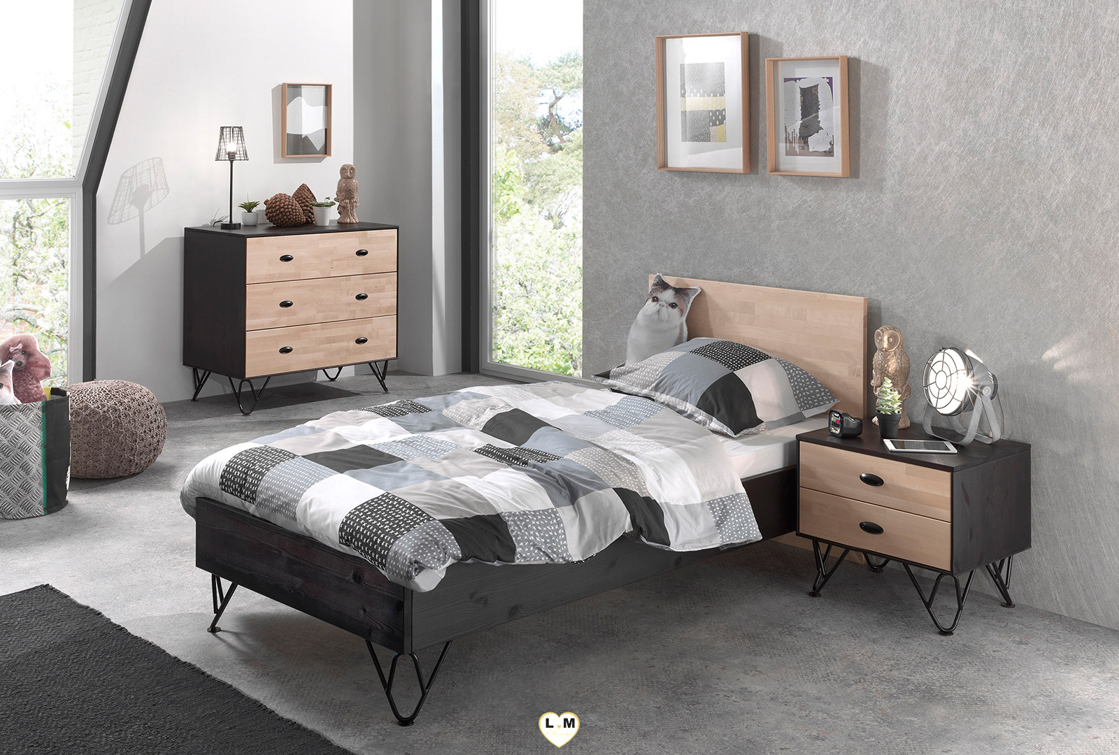 willy chambre ado la commode lignemeuble com. Black Bedroom Furniture Sets. Home Design Ideas