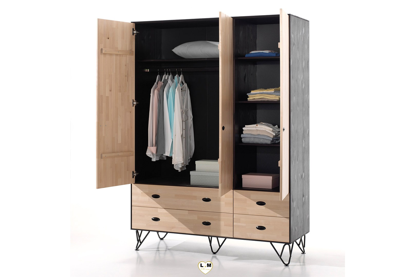 armoire metallique chambre gallery of astuce de rangement chambre beau de armoire metallique. Black Bedroom Furniture Sets. Home Design Ideas